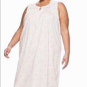 CROFT & BARROW 4X CORAL PINK Nightgown NWT 💖💖